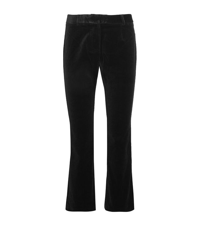 Frame Velvet Cropped Flared Pants