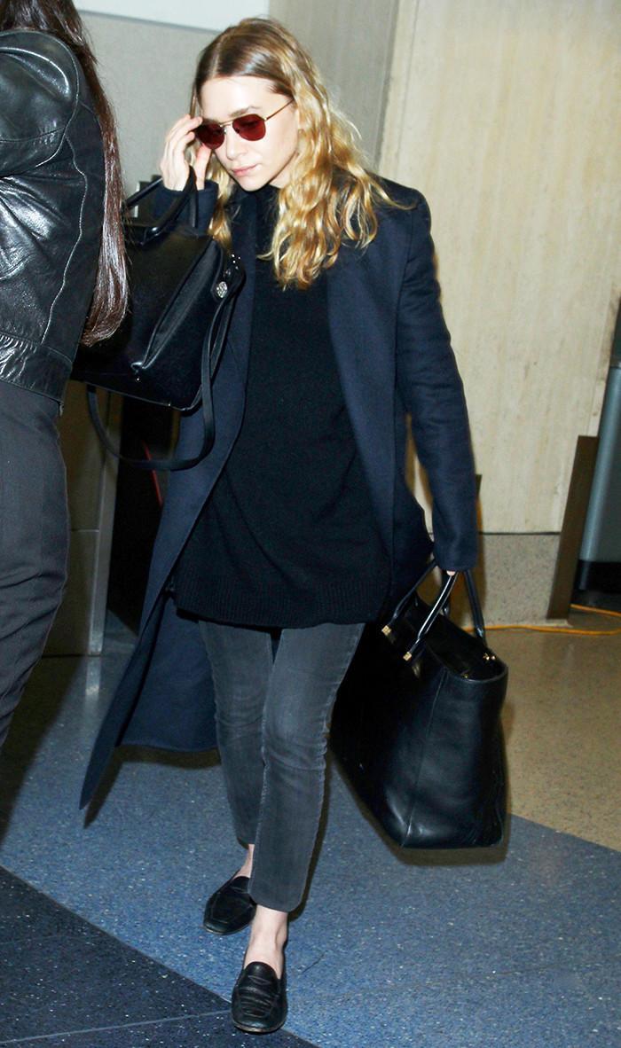 Ashley Olsen airport style