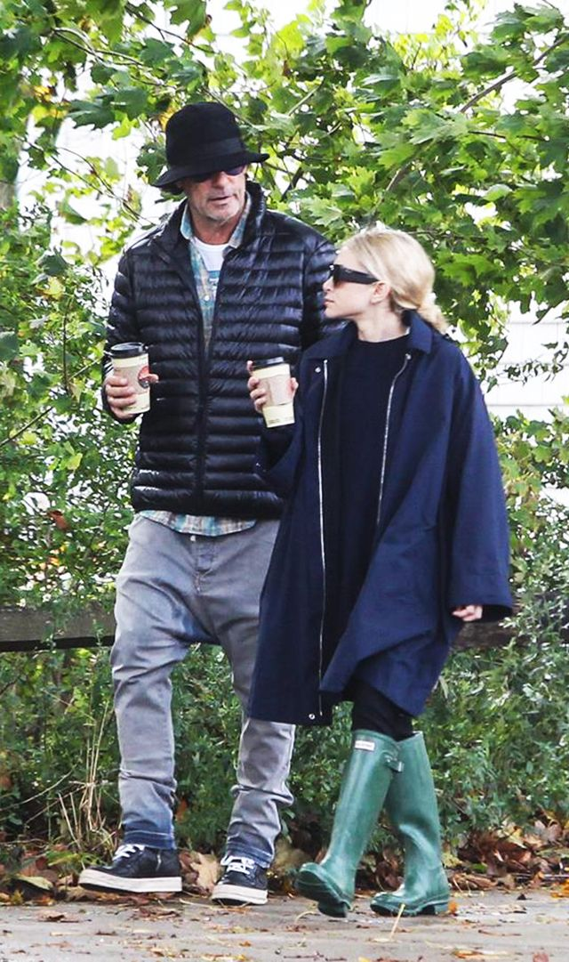 Mary-Kate Olsen wearing hunter rain boots