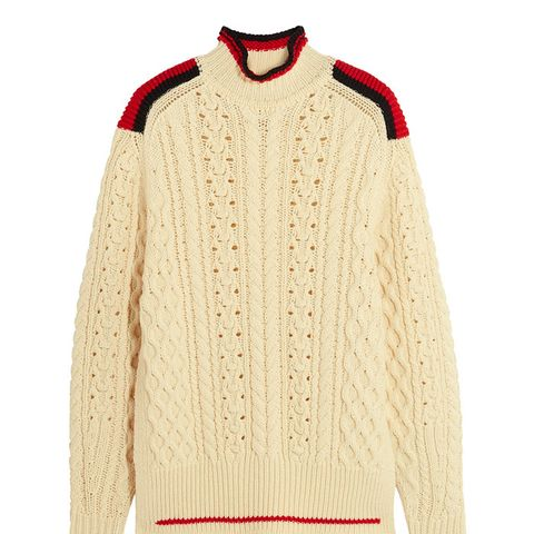 Edison Oversized Cable-Knit Sweater