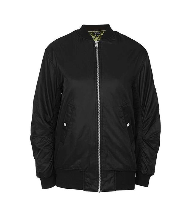 Topshop Longline Bomber Jacket