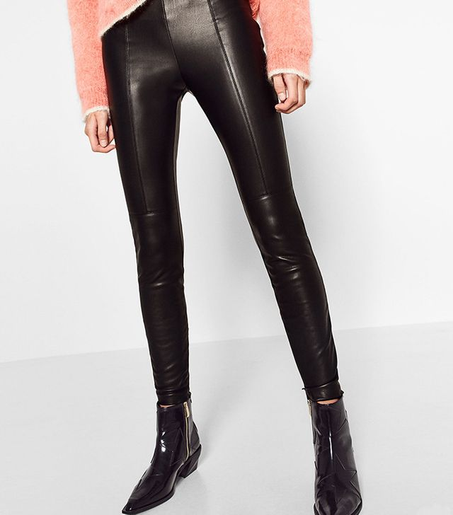 Zara Leather-Effect Leggings