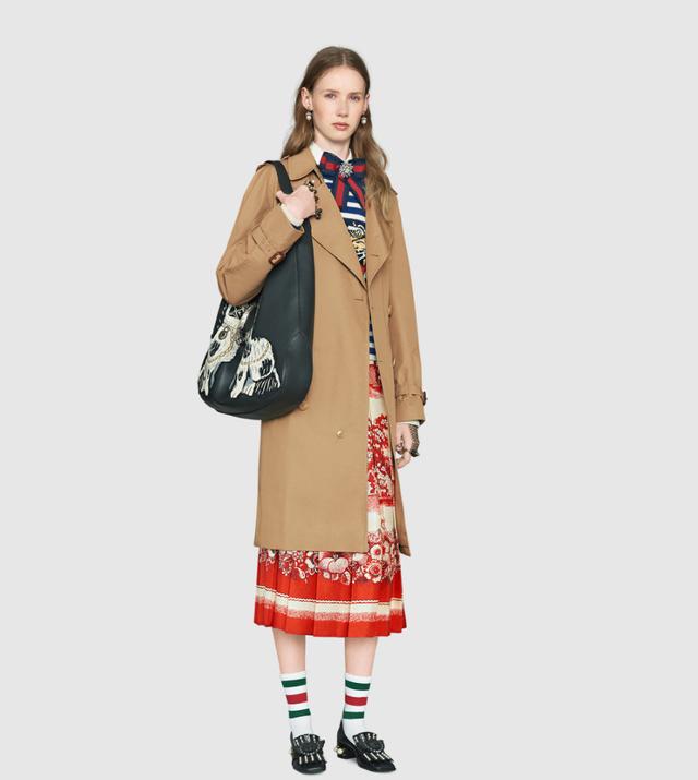 Gucci Porcelein Garden Print Silk Skirt