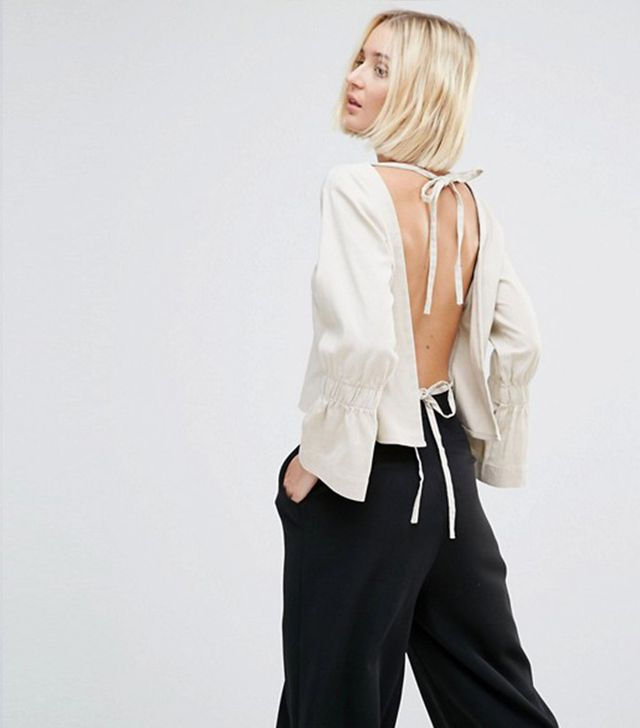 House Of Sunny Open Back Smock Top