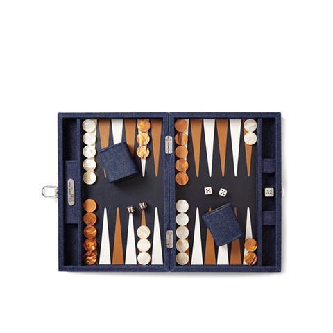 Daniel Denim and Leather Backgammon Set