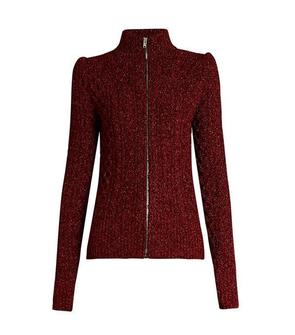 Isabel Marant Dayley High-Neck Zip-Through Sweater