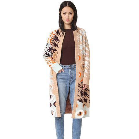 Animal Cardigan Sweater