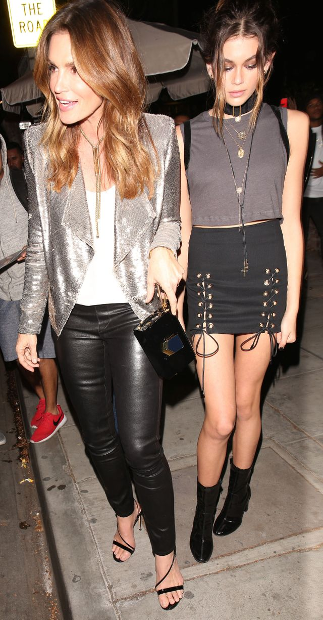 Kaia Gerber Cindy Crawford Outfits Kendall Jenner 21st Birthday