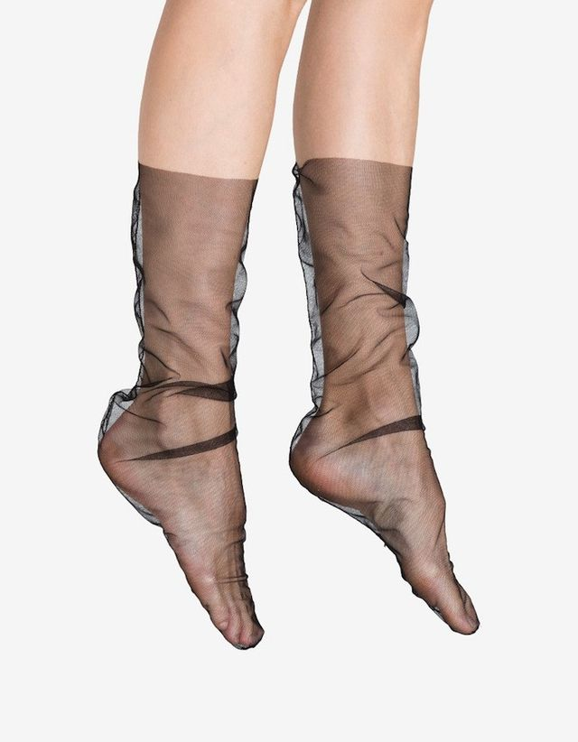 Pan & the Dream Black Nylon Tulle Sock