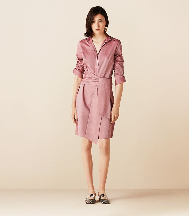 Finery Brunswick Integrated Tie Shirt Dress