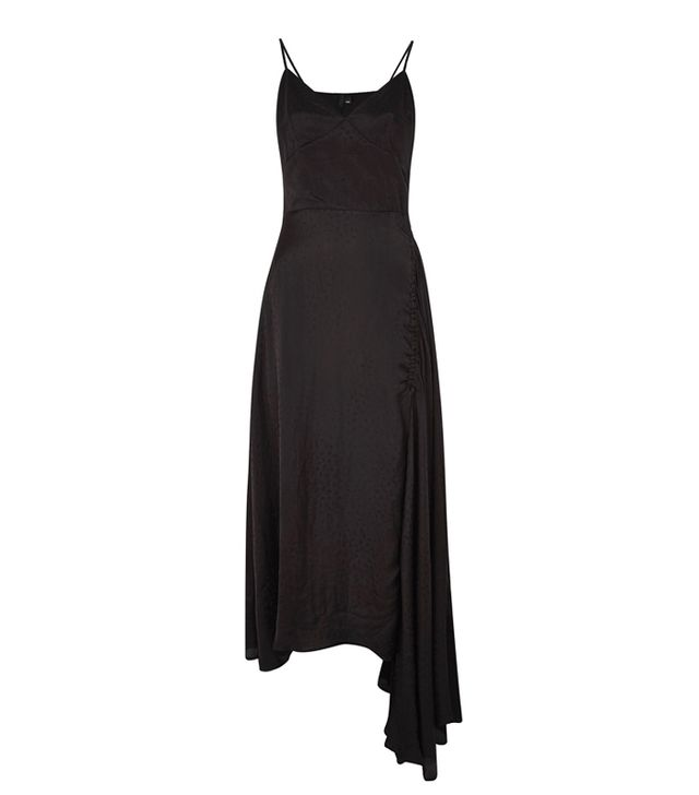 Topshop Ruched Jacquard Slip Dress by Boutique