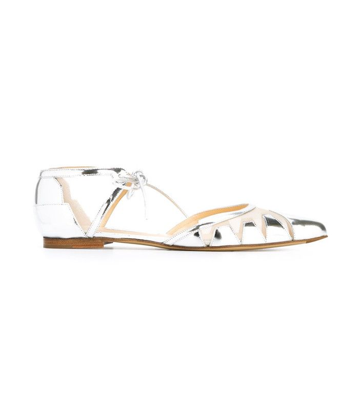 Flat bridal shoes: Bionda Castana