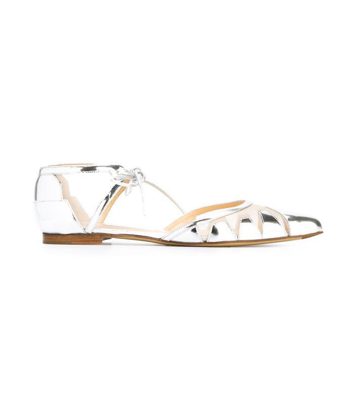 Flat bridal shoes: Bionda Castana