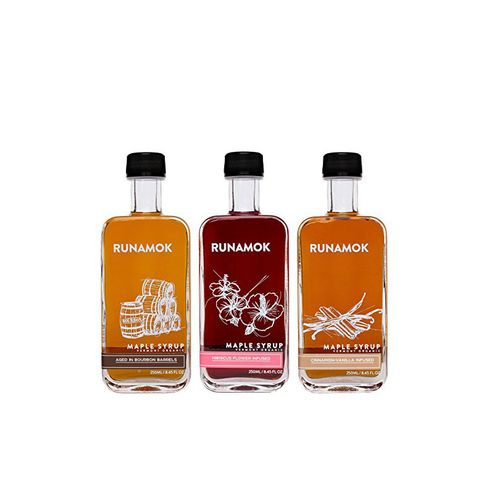 Gift Box of 3 Bottles of Barrel-Aged and Infused Maple Syrups