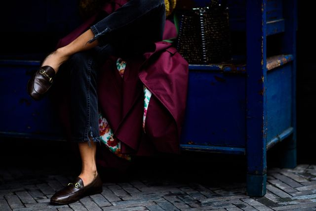 gucci loafer street style