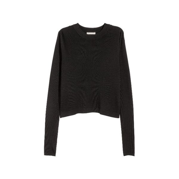 H&M Ribbed Wrapover Sweater
