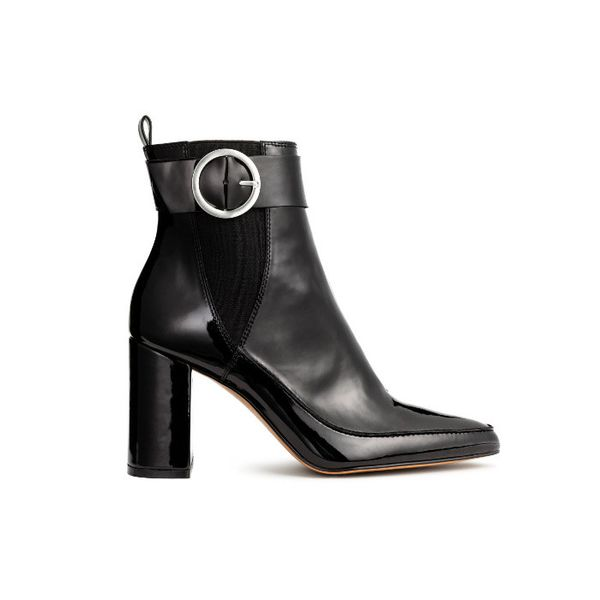 H&M Patent Ankle Boots