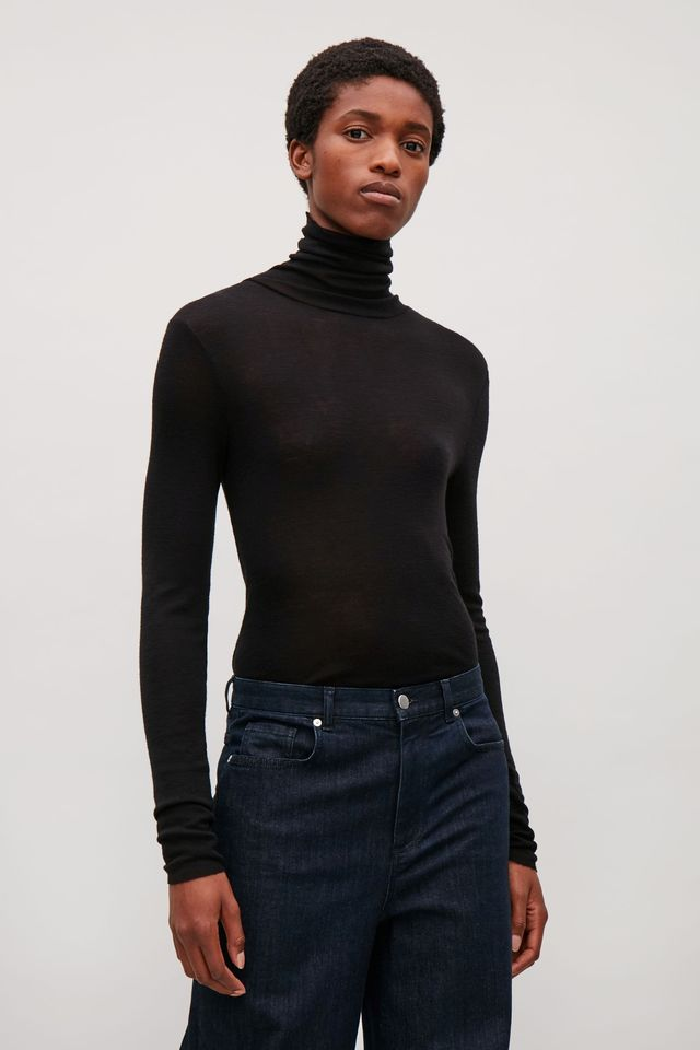 Cos Roll-Neck Wool Top