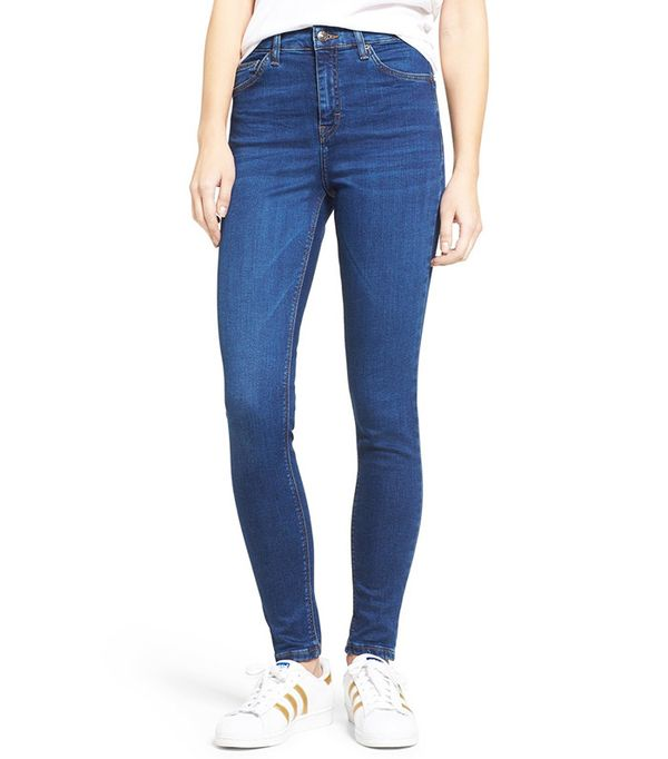 Topshop 'Jamie' High Rise Ankle Skinny Jeans