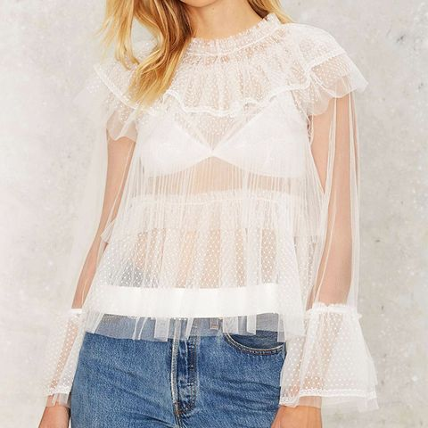 Tulle For Your Lovin' Ruffle Blouse