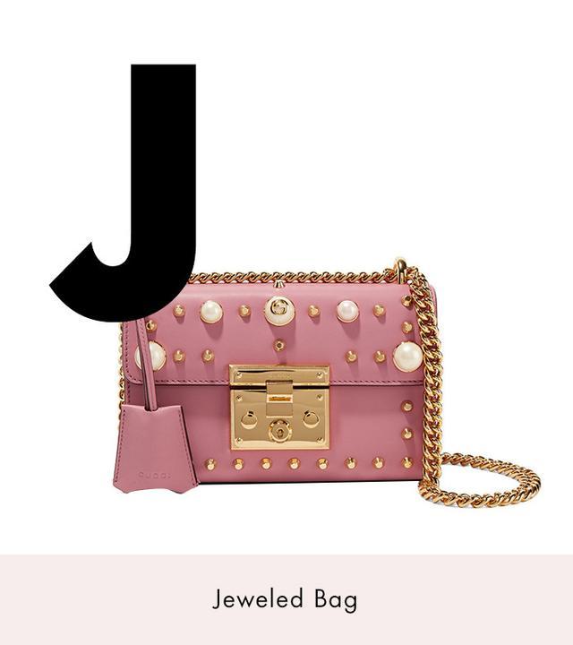 Gucci Padlock Mini Embellished Leather Shoulder Bag