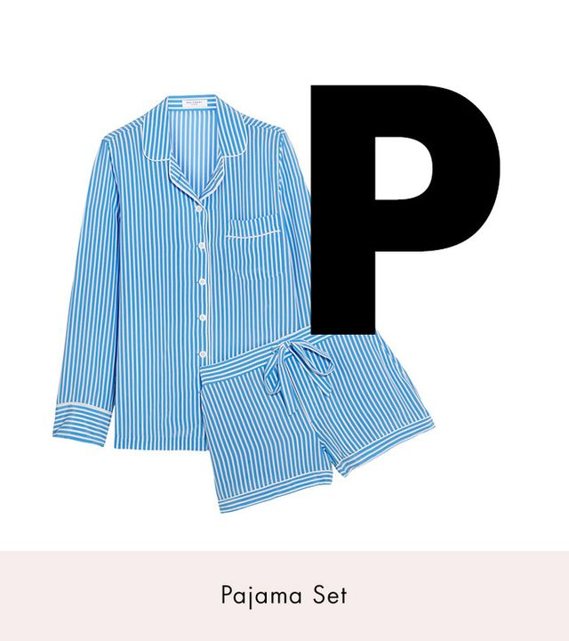 Equipment Lillian Striped Washed-Silk Pajama Set