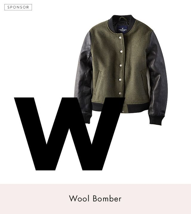 American Eagle Outfitters Wool Bomber