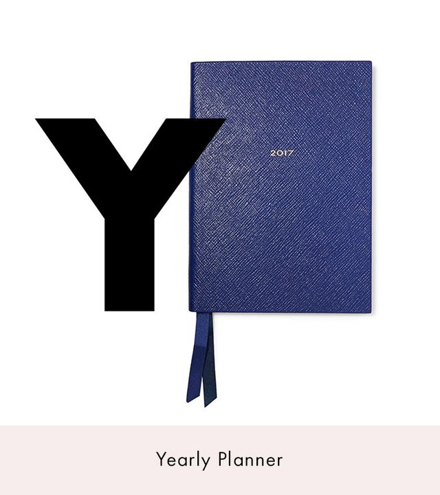 Smythson Soho Textured-Leather Diary