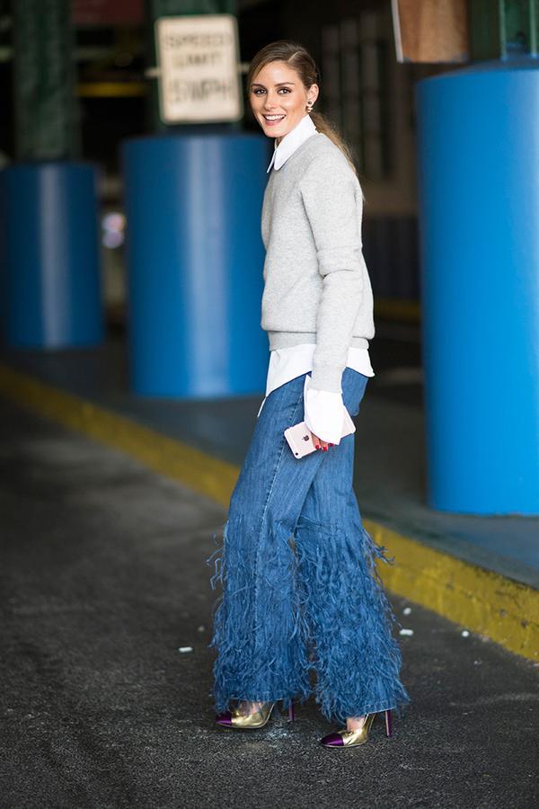 Statement Wide-Leg Jeans