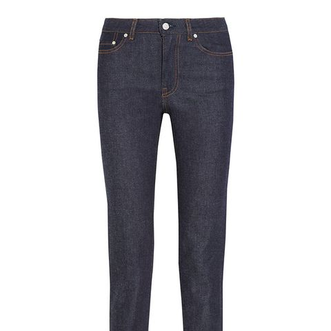 Row Raw Cropped Jeans