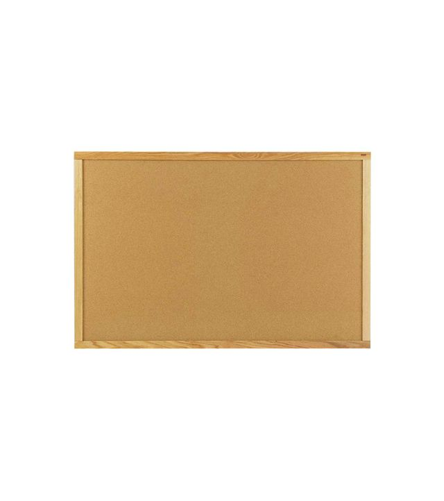 Marsh Industries Natural Cork Board With Wood Frame