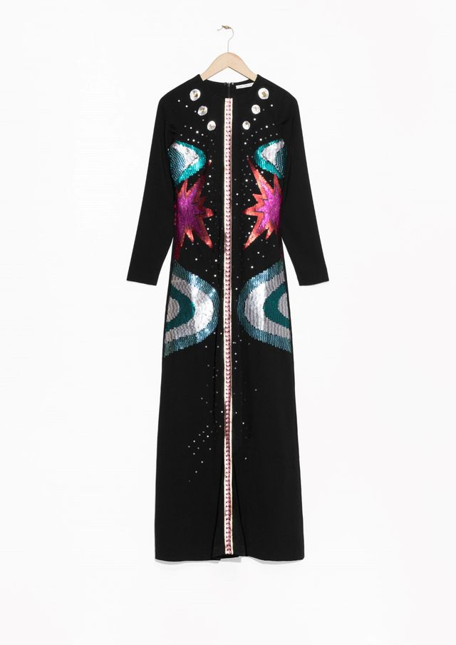& Other Stories Sequin Starburts Maxi Dress