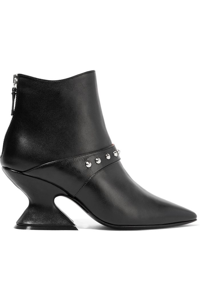 Dorateymur Radio Studded Leather Ankle Boots