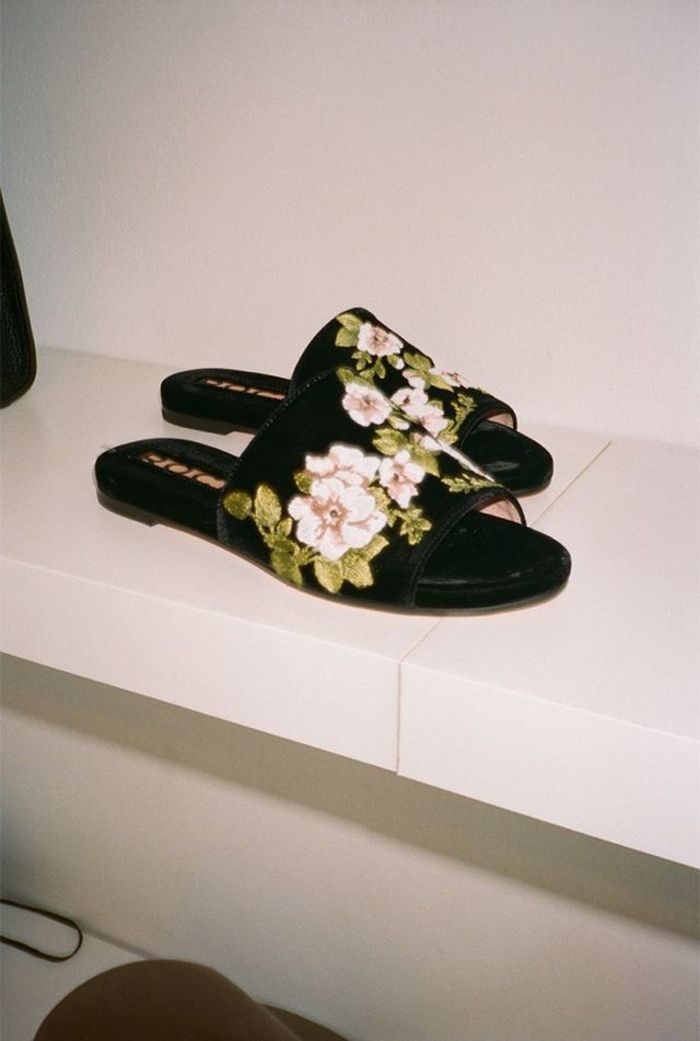 WWW: What's your single most popular piece right now? LA: The Rochas embroidered slides have been a huge hit. While steep in price, the hand-embroidered slide is the most casual yet chic...