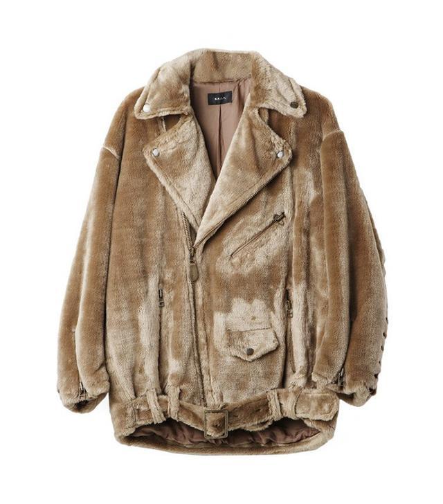 Faux Fur Biker Jacket by G.V.G.V.