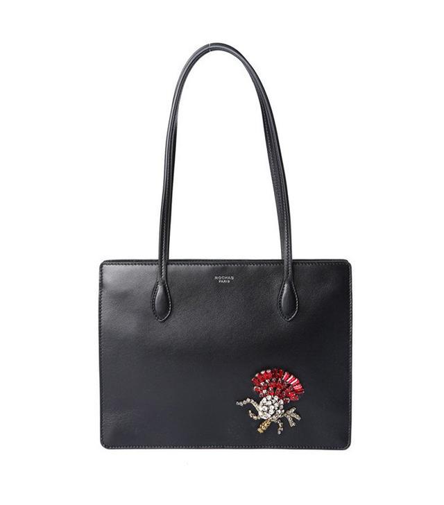Black Embellished Bag by Rochas