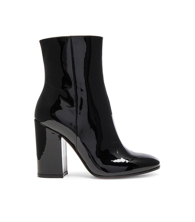 Gianvito Rossi Patent Leather Rolling High Booties