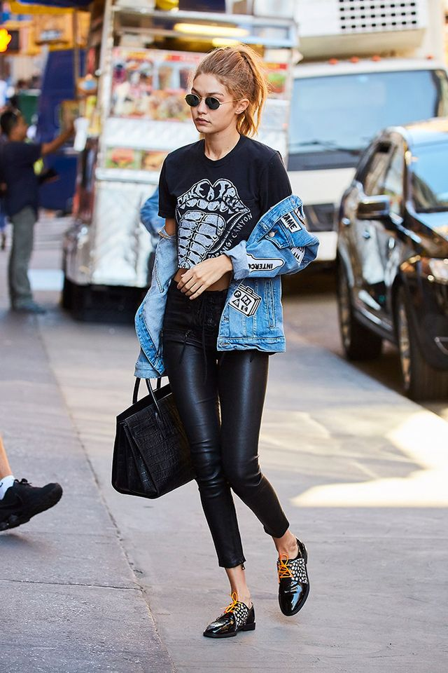 If you want a Gigi-approved bag—go for a top-handle silhouette for a polished vibe.