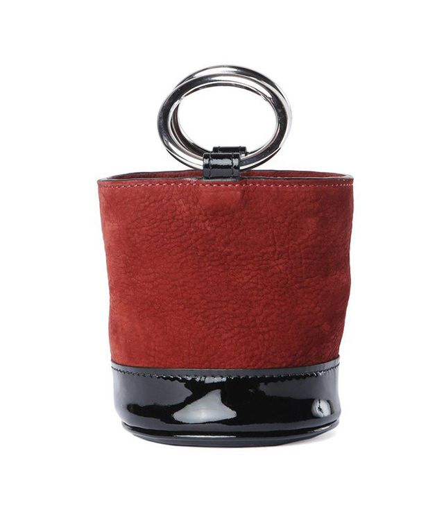 Patent Oxblood Bonsai Bag by Simon Miller