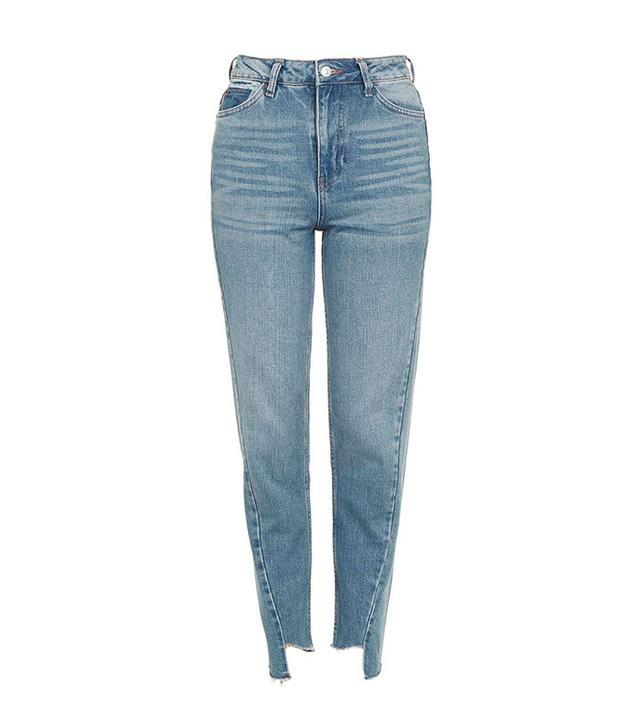 Topshop Seam Detail Mom Jeans