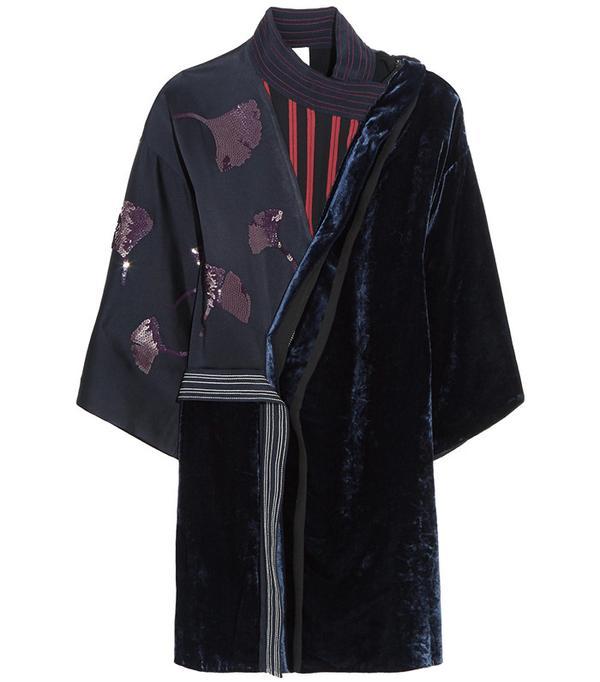 3.1 Phillip Lim Sequined Chiffon and Velvet Dress