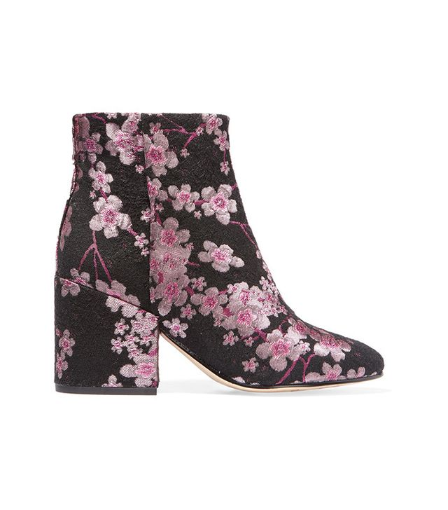 Sam Edelman Taye Floral-Brocade Ankle Boots