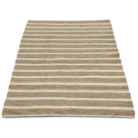 Jute Rug - White Stripe