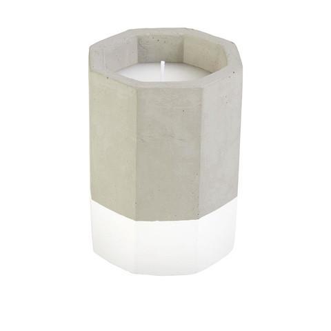 Citronella Geo Candle - White