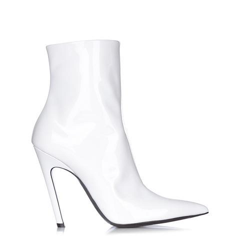 Slant-Heel Patent-Leather Boots