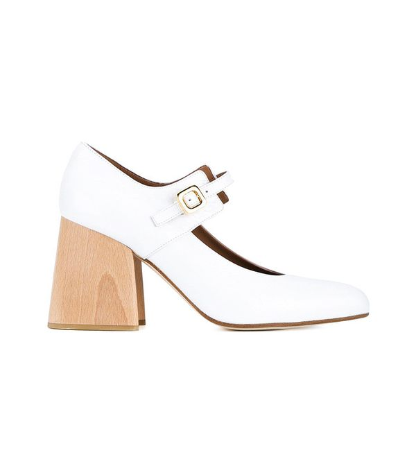 Marni Patent Leather Mary Janes with Wooden Block Heel