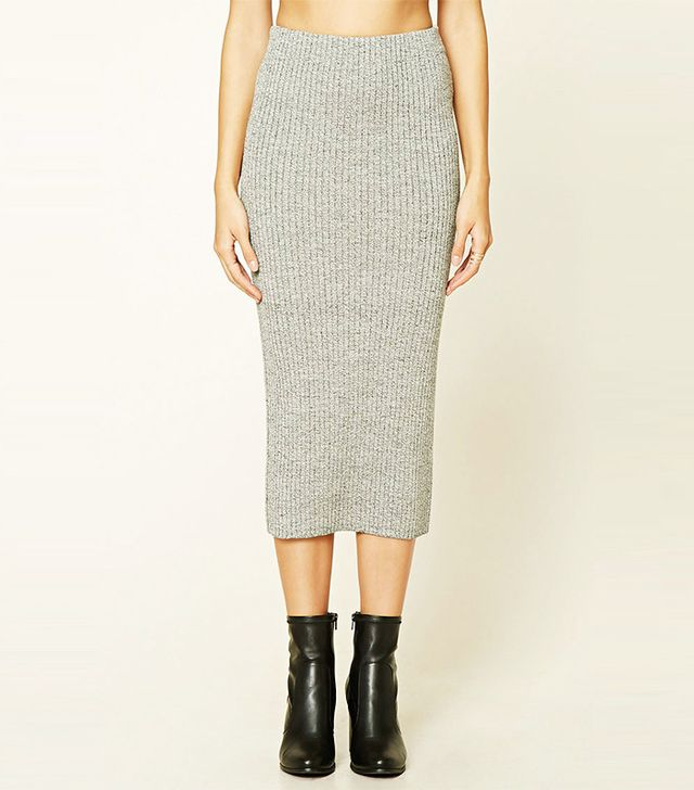 Forever21 Contemporary Sweater Midi Skirt