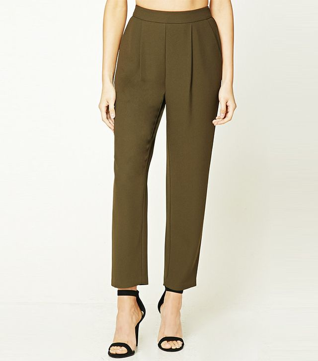 Forever21 Pleated High-Waisted Pants