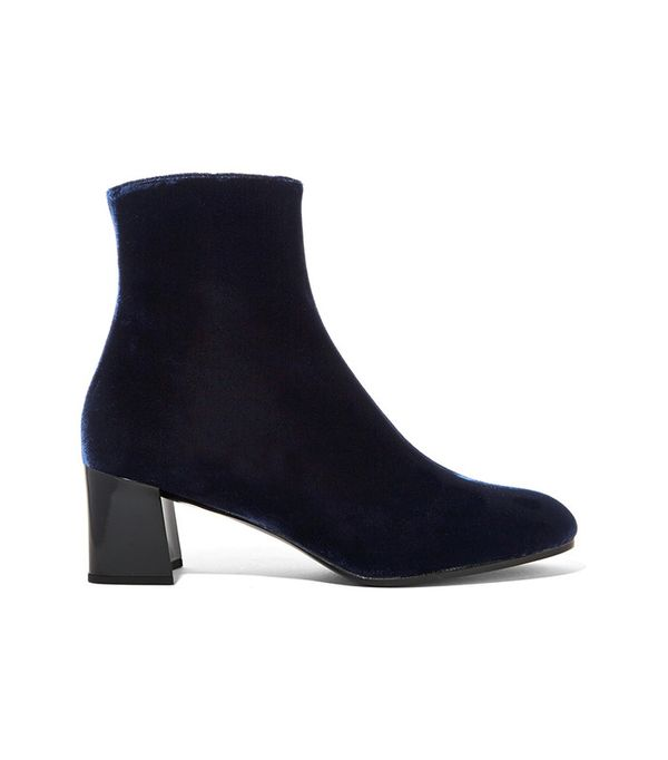 Jil Sander Velvet Ankle Boots