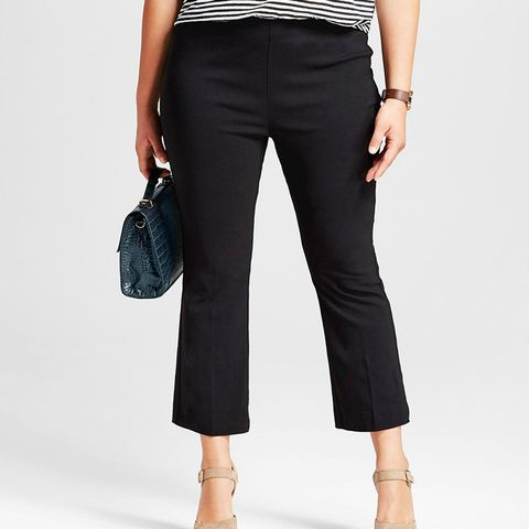 Plus Size Cropped Flare